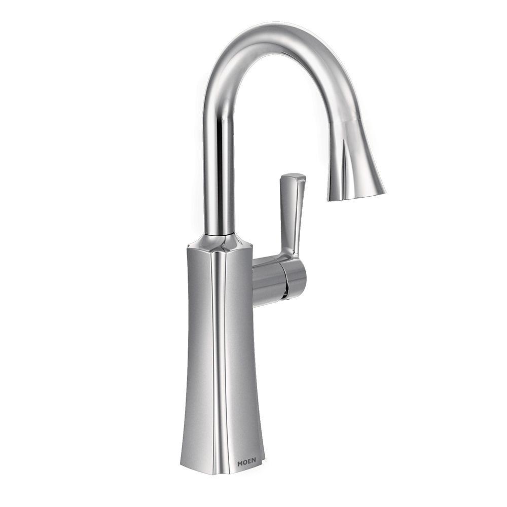 Moen Etch Chrome One-Handle High Arc Pulldown Bar Faucet