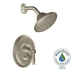 Kit de garniture de robinet de douche à 1 poignée Rothbury Posi-Temp en nickel brossé (robinet vendu séparément)
