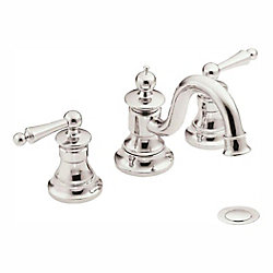 MOEN Waterhill Two-Handle High Arc Bathroom Faucet in Polished Nickel (Valve Sold Separately)