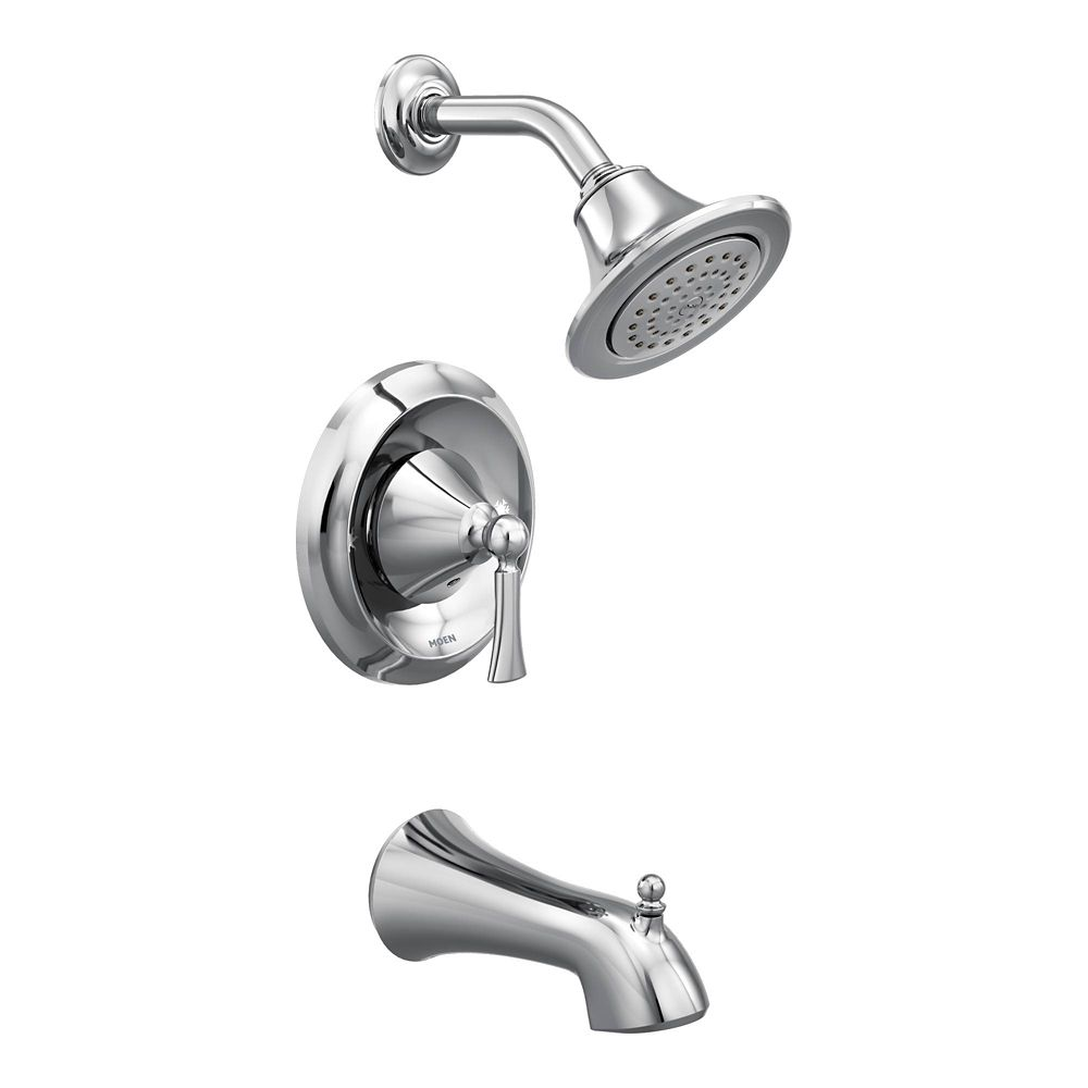 Moen Wynford Single-Handle Posi-Temp Tub and Shower Faucet Trim Kit in Chrome (Valve Sold Separately)