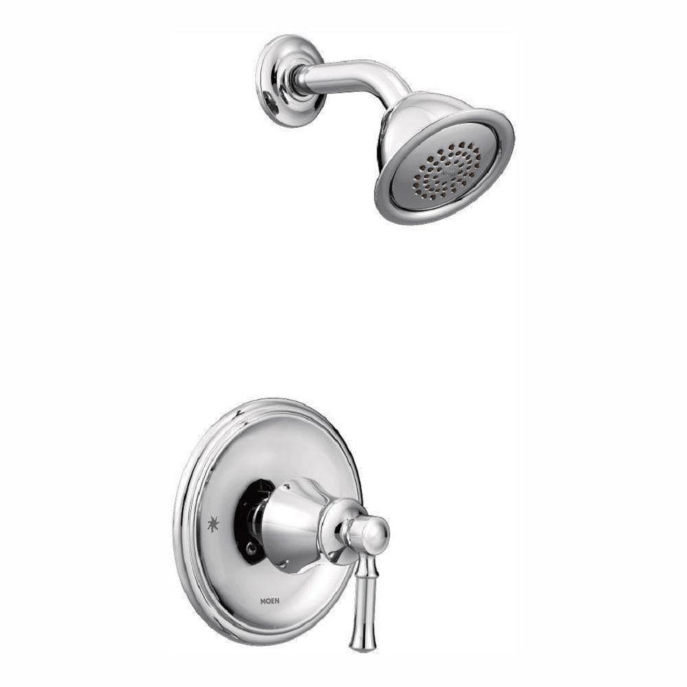Moen Dartmoor Posi-Temp 1-Handle Wall-Mount Faucet Trim Kit In Chrome (Valve Sold Separately)