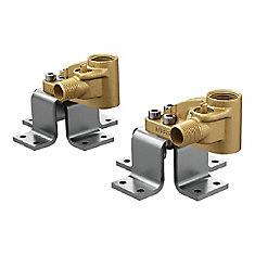 Weymouth Double Floor Mount Tub Filler Concrete Mounting System