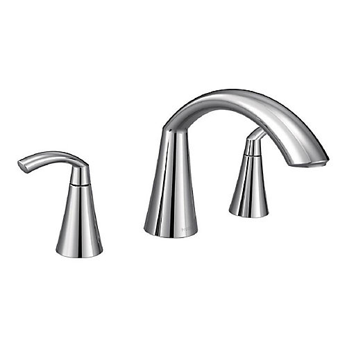 Glyde Two-Handle High Arc Roman Tub Faucet in Chrome (Valve Sold Separately)