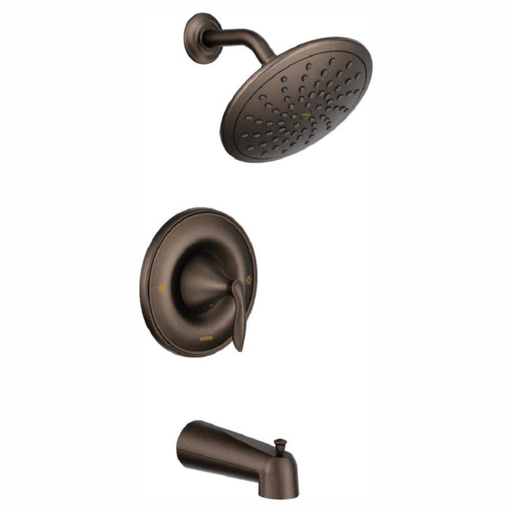 Moen Eva Posi-Temp Shower 1-Handle Tub and Shower Faucet Trim Kit in Oil Rubbed Bronze (Valve Sold Separately)