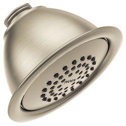 MOEN Brushed Nickel One-Function 4-inch Diameter Spray Head Standard