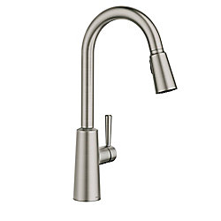 MOEN Riley Spot Resist Stainless One-Handle High Arc Pulldown Kitchen Faucet