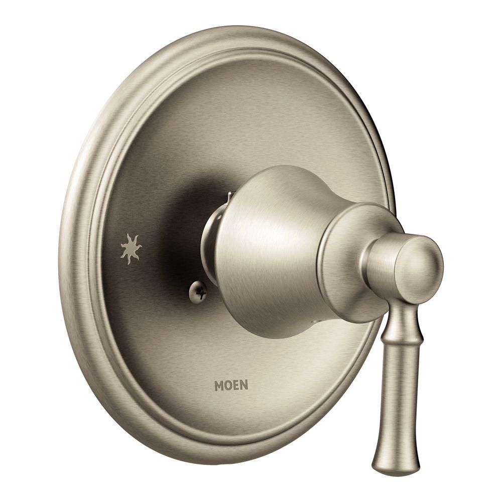 Moen Dartmoor Posi-Temp 1-Handle Wall-Mount Shower Only Faucet Trim Kit In Brushed Nickel (Valve Sold Separately)
