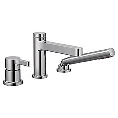 Vichy One-Handle Low Arc Roman Tub Faucet in Chrome (Valve Sold Separately)