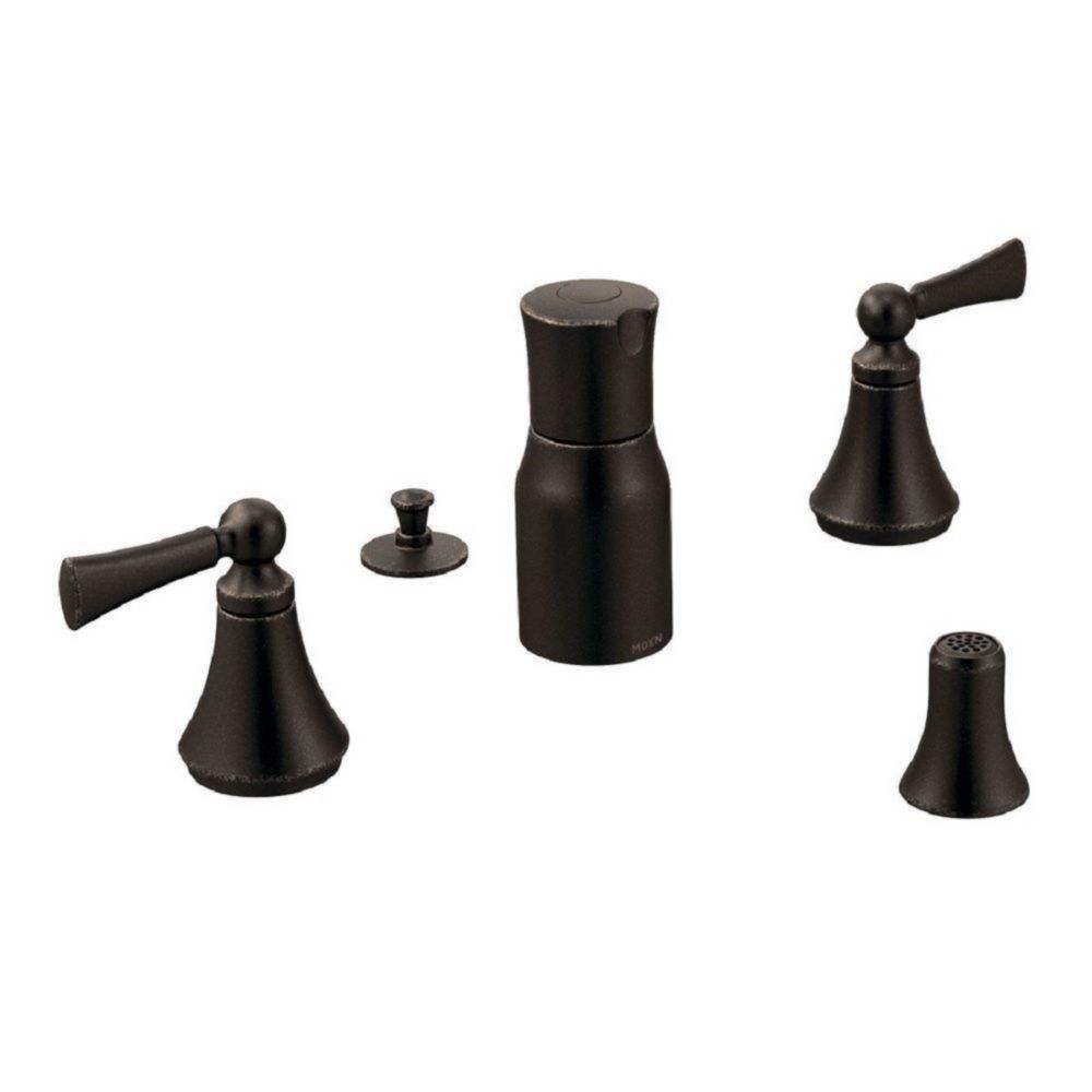 Moen Voss Two-Handle Bidet Faucet in Oil Rubbed Bronze (Valve Sold Separately)