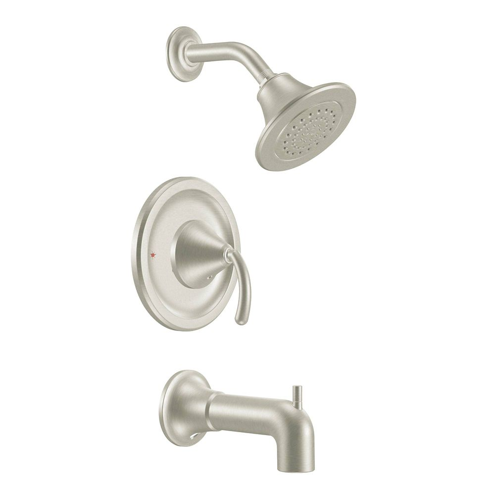 Moen Icon Posi-Temp 1-Handle Tub and Shower Trim Kit in Brushed Nickel (Valve Sold Separately)