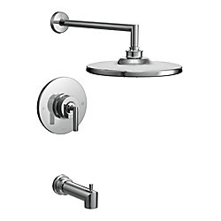Arris  Single-Handle Posi-Temp Tub and Shower Faucet Trim Kit in Chrome (Valve Sold Separately)