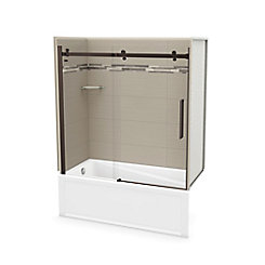 Maax Utile 60 Inch X 30 Inch Origin Greige Tub Wall Kit With Left End