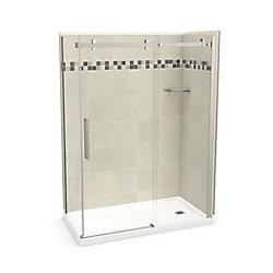 MAAX Utile 60 inch x 32 inch Stone Sahara Right Hand Corner Shower Kit with Brushed Nickel Door