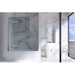 Mirolin Écran de baignoire Aspis 45 po L x 63 po H en blanc