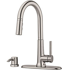 Crete Pull Down Kitchen Faucet in Spot Defense Stainless Steel