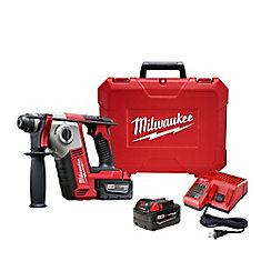 M18 18-Volt Lithium-Ion Cordless 5/8-Inch SDS-Plus Rotary Hammer Kit with (2) 3.0Ah Batteries