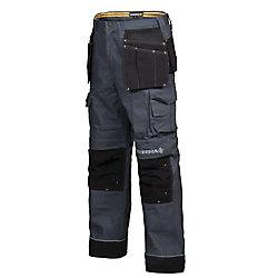 Terra Pantalon de Travail en Canvas avec Poche à Outils BRICK (Gris) 34/32