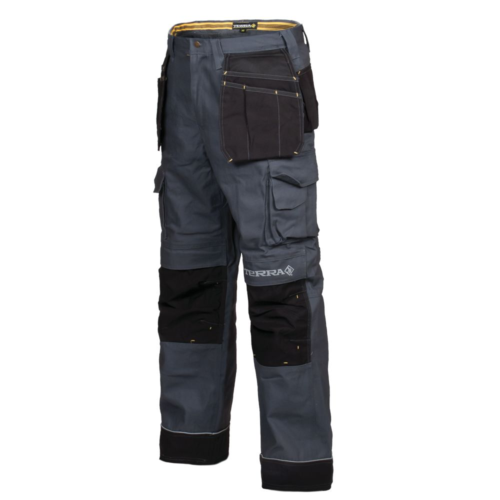 reliable quality utterly stylish discount price Canvas Work Pant with Tool Pocket BRICK (Grey) 36/32