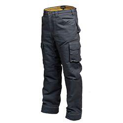 Terra Pantalon de Travail en Canvas Doublé en Flanelle CLIMB (Gris) 32/32