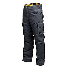 Canvas Work Pant w/ Flannel Lining CLIMB (Grey) 34/32