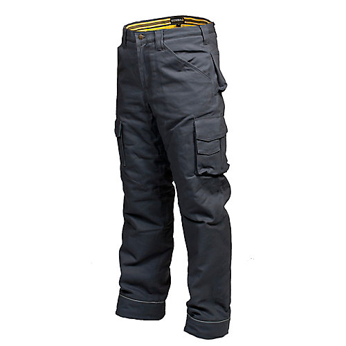 Canvas Work Pant with Flannel Lining CLIMB (Grey) 36/32