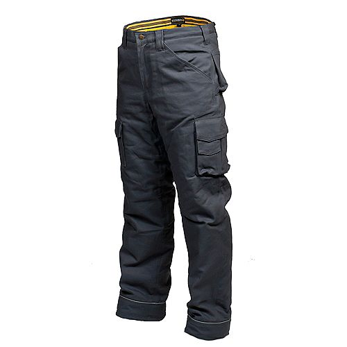 Terra Canvas Work Pant with Flannel Lining CLIMB (Grey) 42/32