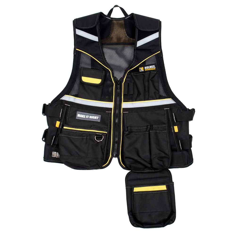 Holmes Multi-Pocketed Tool Vest Workwear One Size