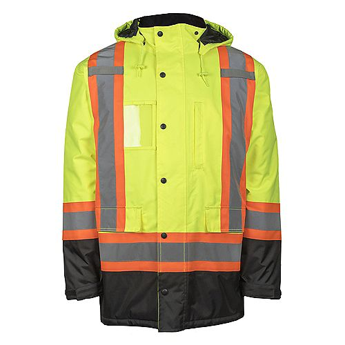 Terra Hi-VIS Lined Safety Parka with Rflt Band (Yellow) SZ 2XL