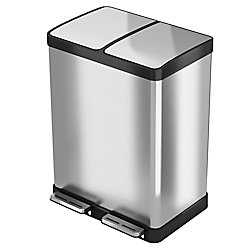 Halo 60 L / 16 Gal Premium Stainless Steel Step Recycler Trash Can