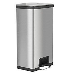 Halo AirStep 68 litre Step-On Kitchen Trash Can, Stainless Steel