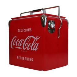 Coca Cola Vintage 13L (18-Can) Ice Chest with Built-In Bottle Opener