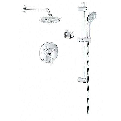 Système de douche Euphoria 260 avec thermostat à fixation murale StarLight, chrome