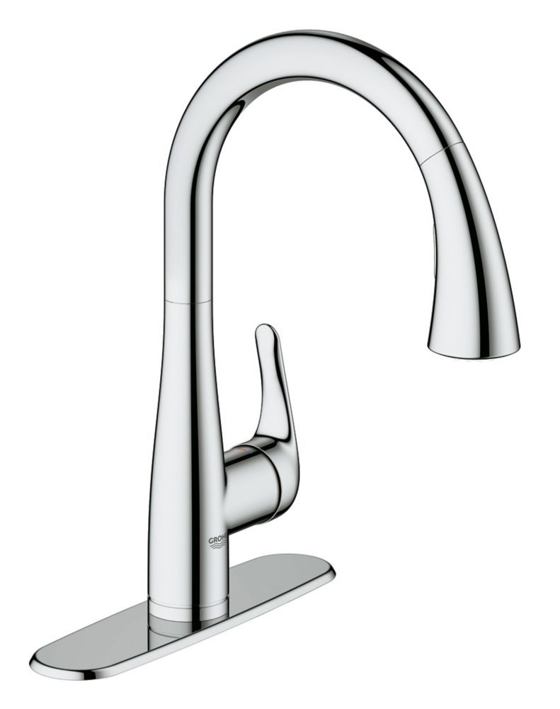 GROHE Elberon Single-Handle Dual Spray Kitchen Faucet in StarLight Chrome