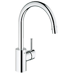 GROHE Concetto Single-Handle Pull-Out Sprayer Kitchen Faucet in StarLight Chrome