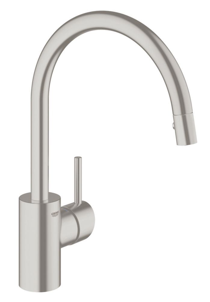 GROHE Concetto Single-Handle Pull-Down Sprayer Kitchen Faucet with Dual Spray in SuperSteel InfinityFinish