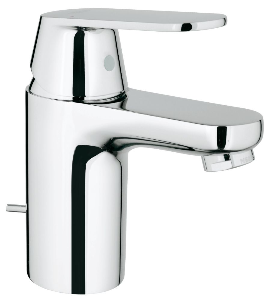 GROHE Eurosmart Cosmopolitan Single Hole Single-Handle Low-Arc Bathroom Faucet in StarLight Chrome
