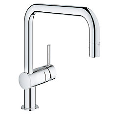 Minta Single-Handle Dual Pull Out Spray Kitchen Faucet in StarLight Chrome