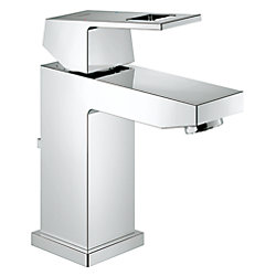 GROHE Eurocube Single Hole Single-Handle Bathroom Faucet in StarLight Chrome