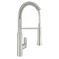 GROHE K7 Semi-Pro Medium Single-Handle Standard Kitchen Faucet in SuperSteel InfinityFinish