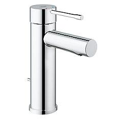 Robinet de salle de bain Essence monotrou à poignée unique et arc bas 1,2gpm en chrome StarLight