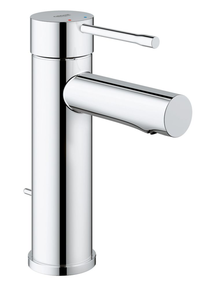 GROHE Essence Single Hole Single-Handle 1.2 GPM Low-Arc Bathroom Faucet in StarLight Chrome