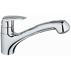 GROHE Eurodisc Single-Handle Pull-Out Sprayer Kitchen Faucet in StarLight Chrome