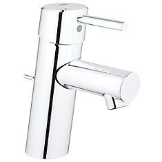 Robinet de salle de bain Concetto monotrou à poignée unique et arc bas en chrome StarLight