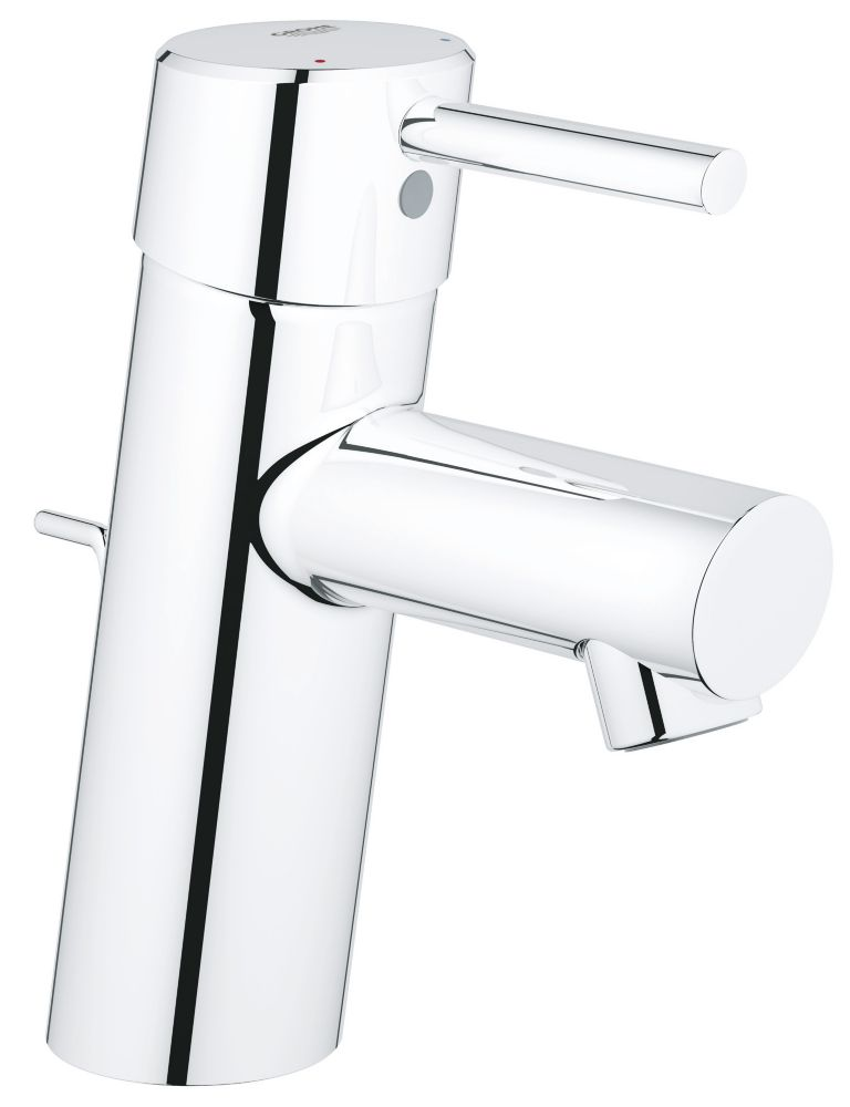 GROHE Concetto Single Hole Single-Handle Low-Arc Bathroom Faucet in StarLight Chrome