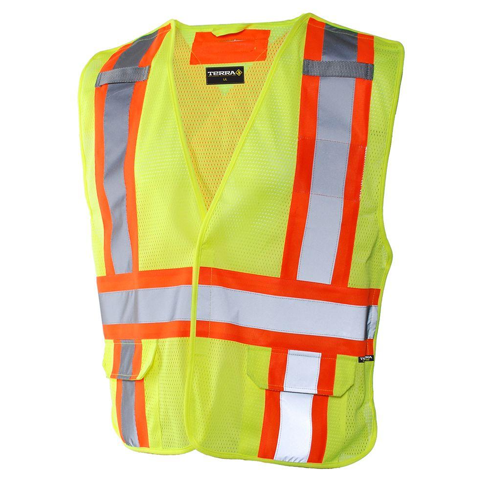 Terra Hi-Vis 5-Point Tear Away Vest (Yellow) SZ 2XL/3XL