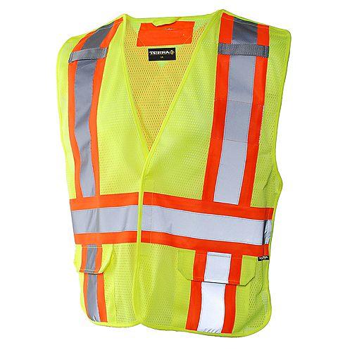 Terra Hi-Vis 5-Point Tear Away Vest (Yellow) SZ L/XL