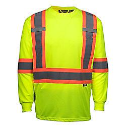 Terra Hi-Vis Long Sleeve T-Shirt with Rflt Band (Yellow) SZ XL