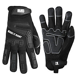 Holmes Mechanics Gloves (Black) Work Wear SZ M