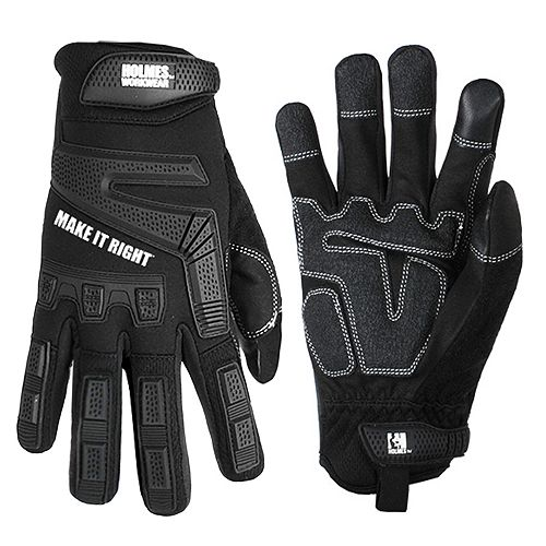 Holmes Mechanics Gloves (Black) Work Wear SZ XL