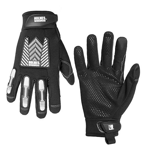 Holmes Mechanics Gloves with Reflective Print Work Wear XL